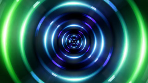 HD ring green tunnel Stock Video Footage