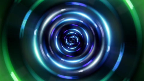 HD ring green tunnel Animation