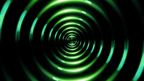HD ring lens flare forward green Animation