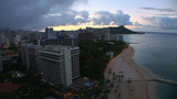 Honolulu Sunrise, time lapse Footage