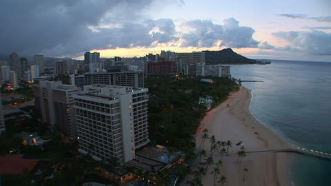 Honolulu Sunrise, time lapse Stock Video Footage