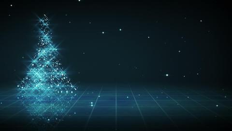 shiny blue christmas tree shape loop Stock Video Footage