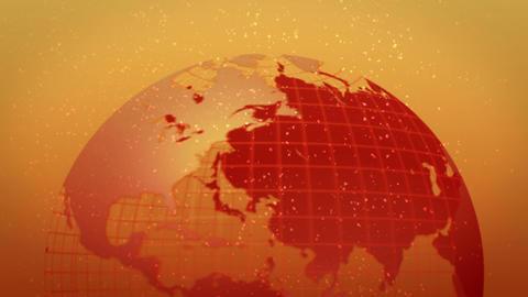earth globe hot image bottom rotate loop Stock Video Footage