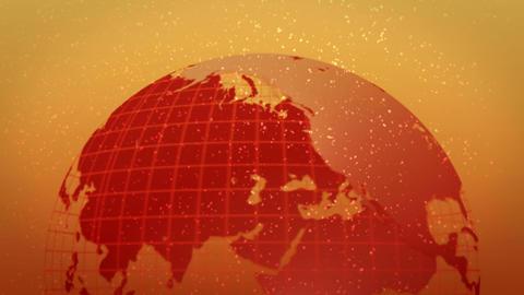 earth globe hot image bottom rotate loop CG動画