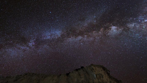 stars and milky way over sandstones 11224 Stock Video Footage