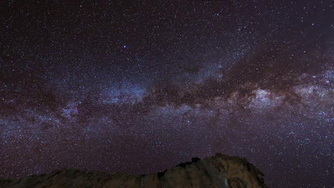 stars and milky way over sandstones pan 11226 Footage