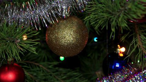 Christmas tree twinkle lights, FULL HD Stock Video Footage