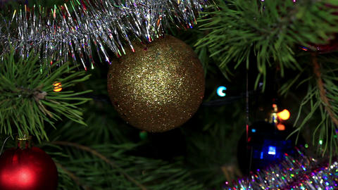 Christmas tree twinkle lights, FULL HD Footage