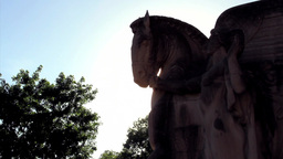 Statue In Silhouette stock footage