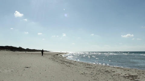 Stranger On The Beach stock footage