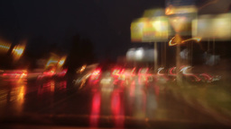 evening town mad traffic Stock Video Footage