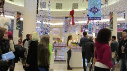 Shopping at Christmas 2 Stock Video Footage