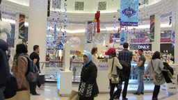 Shopping at Christmas 2 Footage