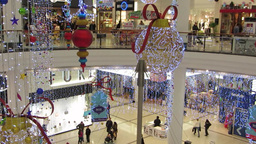 Shopping at Christmas 4 Stock Video Footage