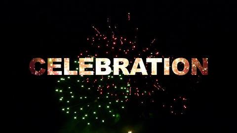 Celebration fireworks 02 Stock Video Footage