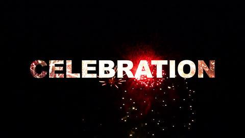 Celebration fireworks 02 CG動画素材