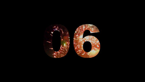 Fireworks countdown 02 Stock Video Footage