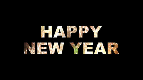 Happy New Year fireworks 01 Stock Video Footage