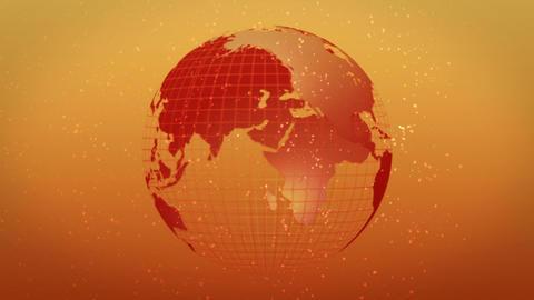 earth globe hot image rotate CG動画