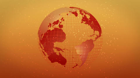 earth globe hot image rotate Stock Video Footage
