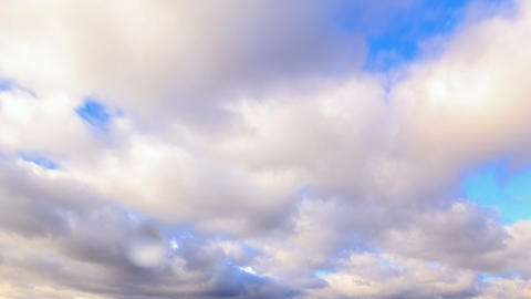 Autumn rain clouds. Time Lapse. 4K Stock Video Footage