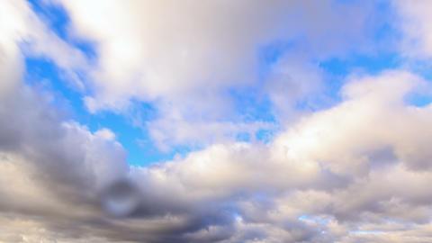 Autumn rain clouds. Time Lapse. 4K Footage