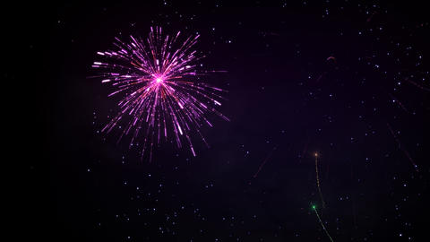 Fireworks 092 HD stock footage