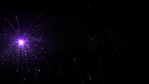 Fireworks 092 HD Stock Video Footage
