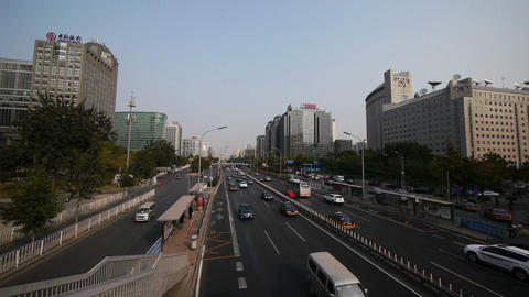 Beijing City Street Traffic ビデオ