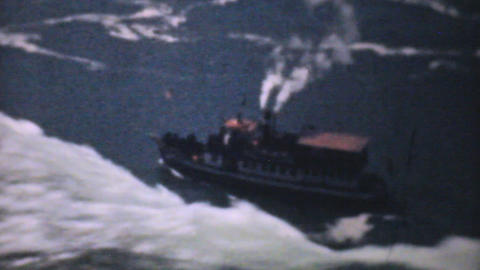 Maid Of The Mist Niagara Falls 1940 Vintage 8mm fi Stock Video Footage