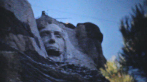 Mount Rushmore Being Built 1940 Vintage 8mm film Stock Video Footage