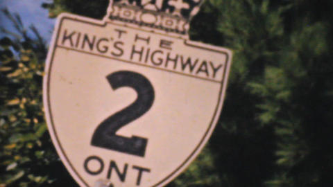 Old Ontario Highway Signs 1940 Vintage 8mm film Stock Video Footage