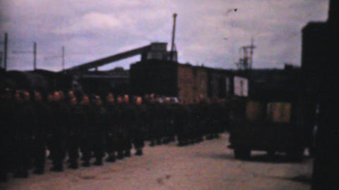 World War 2 Army Recruitment 1940 Vintage 8mm film Stock Video Footage