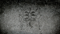 Anonymous face appearing on a wall Animation