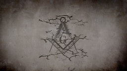 Freemason Symbol Appearing on a Wall Animation