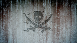 Jolly Roger In A Wall stock footage