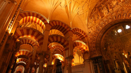 Mosque-Cathedral in Cordoba, Spain Stock Video Footage