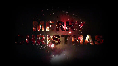 Merry Christmas fireworks 03 Stock Video Footage