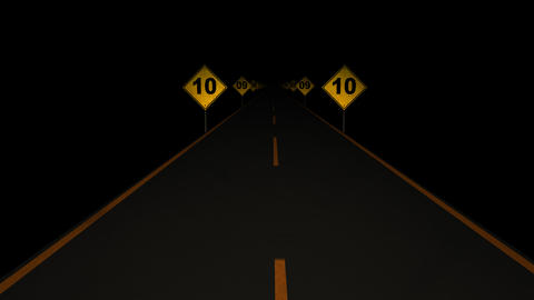 Road Signs Countdown 01 Animation