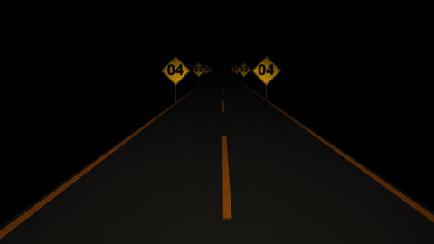 Road Signs Countdown 01 Stock Video Footage