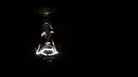 Light-bulb in Focus Stock Video Footage