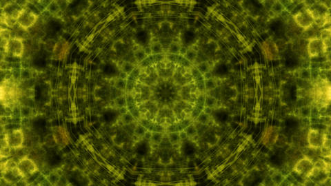 fractal kaleida green Stock Video Footage