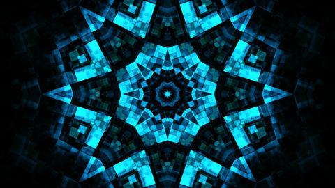 blue kaleidoscope glow Stock Video Footage