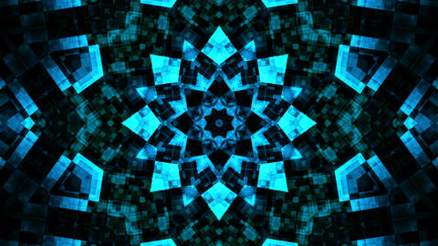 blue kaleidoscope glow Stock Video Footage