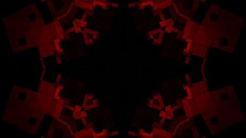 crazy red kaleidoscope Stock Video Footage