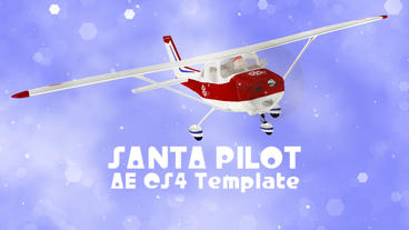 Santa Pilot - AE CS4 stock footage