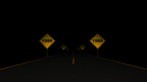 Road Signs Years 01 Animation
