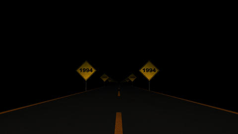 Road Signs Years 01 Stock Video Footage