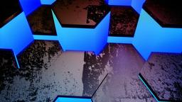 hexagon glowing blue Stock Video Footage