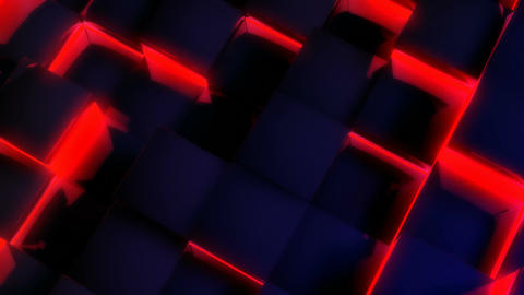 glowing blue tile Stock Video Footage